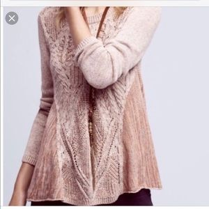 Moth Anita Cable-knit swing sweater